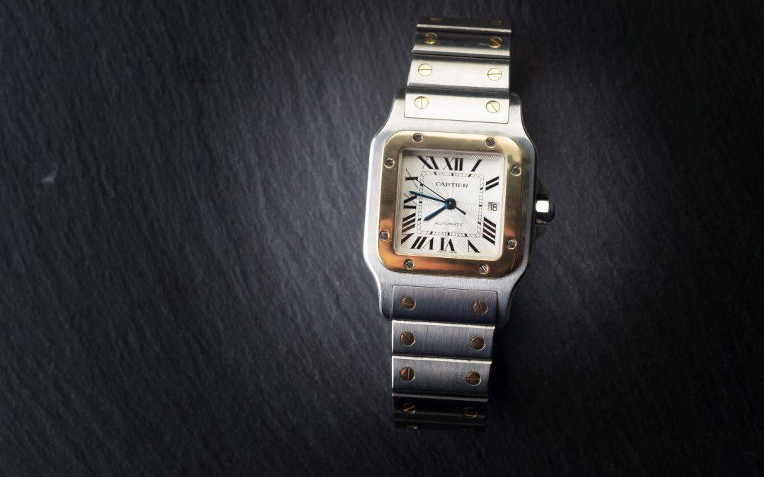 Cartier Santos Galbèe in oro e acciaio Ref. W20058C4