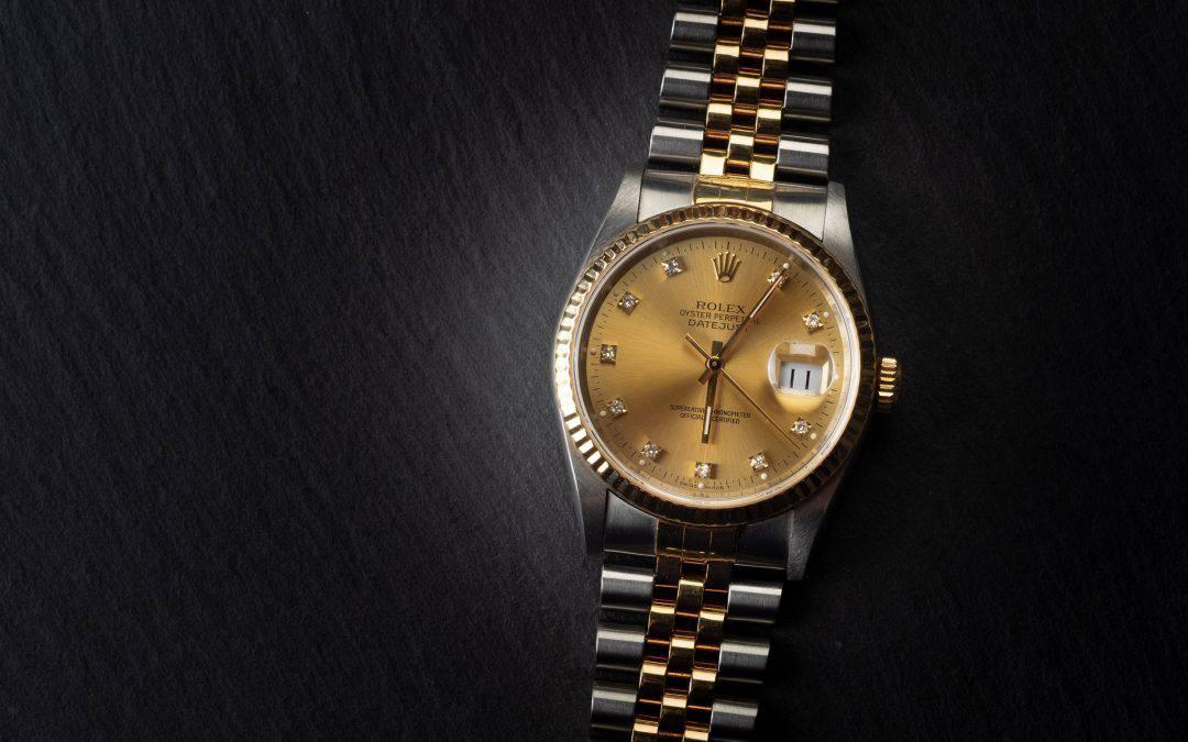 Rolex Date Just in oro e acciaio e diamanti Ref. 16233
