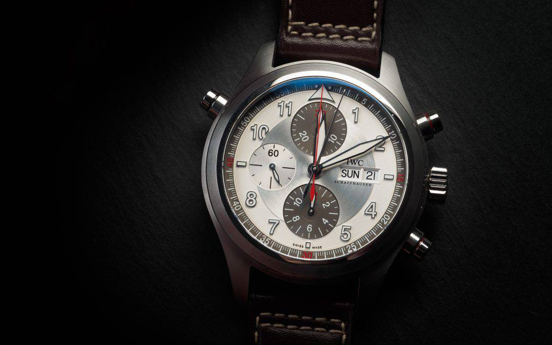 IWC Pilot Spitfire Double Chrono in acciaio Ref. IW371806