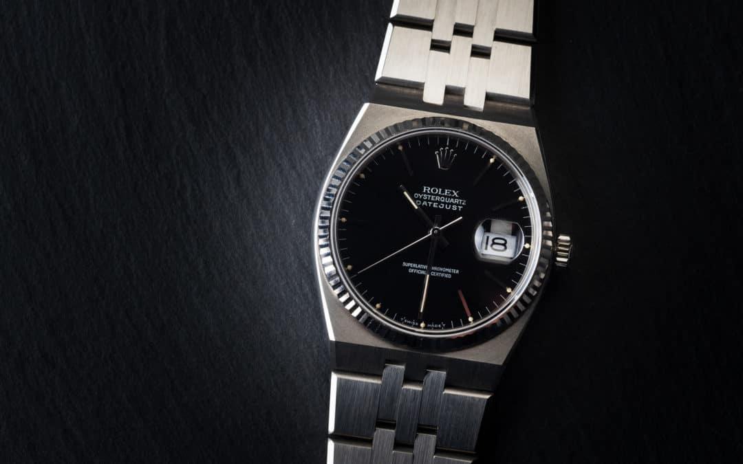 Rolex Oysterquartz Date Just in acciaio Ref. 17014