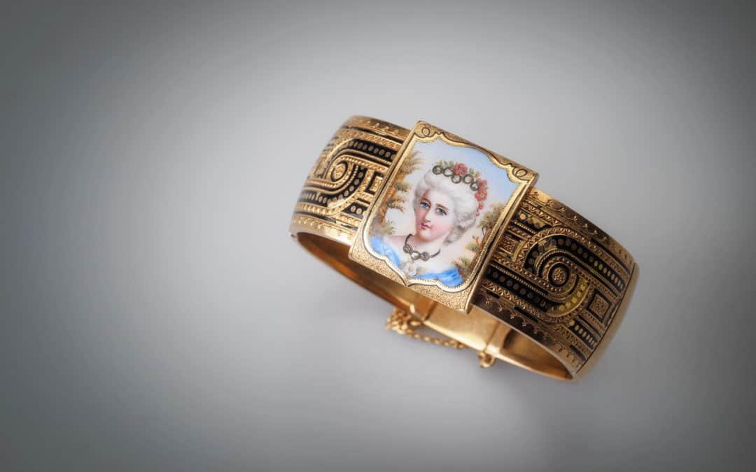 Bracciale vintage in oro giallo 18kt