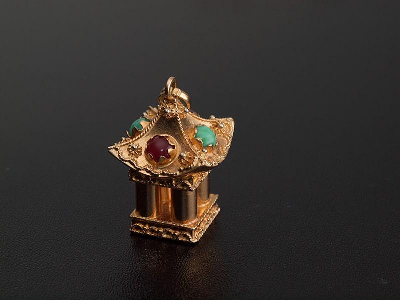 """Ciondolo """"Charms"""" a forma di tempio Giapponese"""