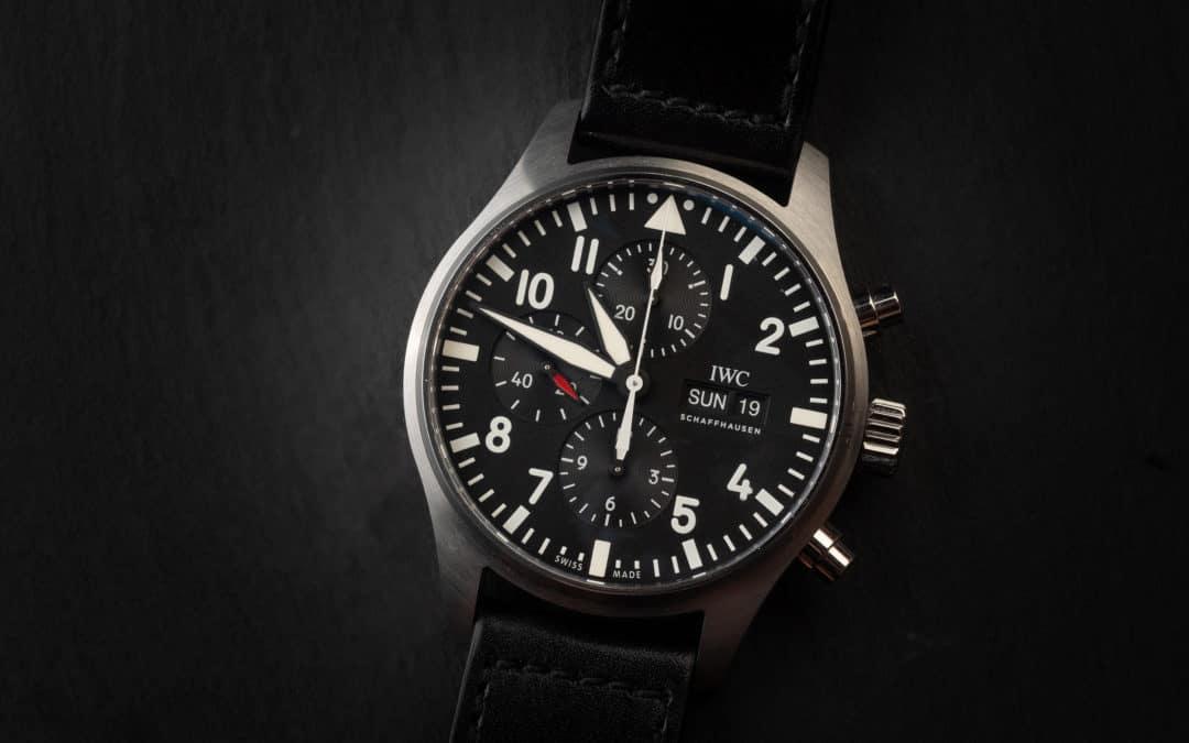IWC Pilot Chronograph in acciaio Ref. IW 377709