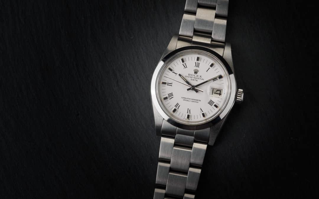 Rolex Date in acciaio plexi Ref. 1500