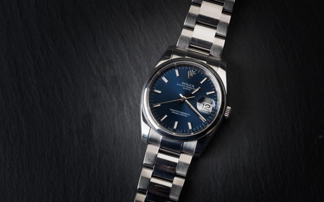 Rolex Date in acciaio Ref. 115200