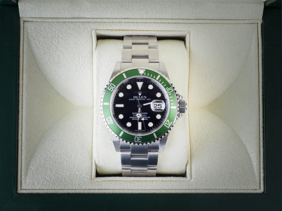 Rolex Submariner Date Verde in acciaio NOS Ref. 16610LV