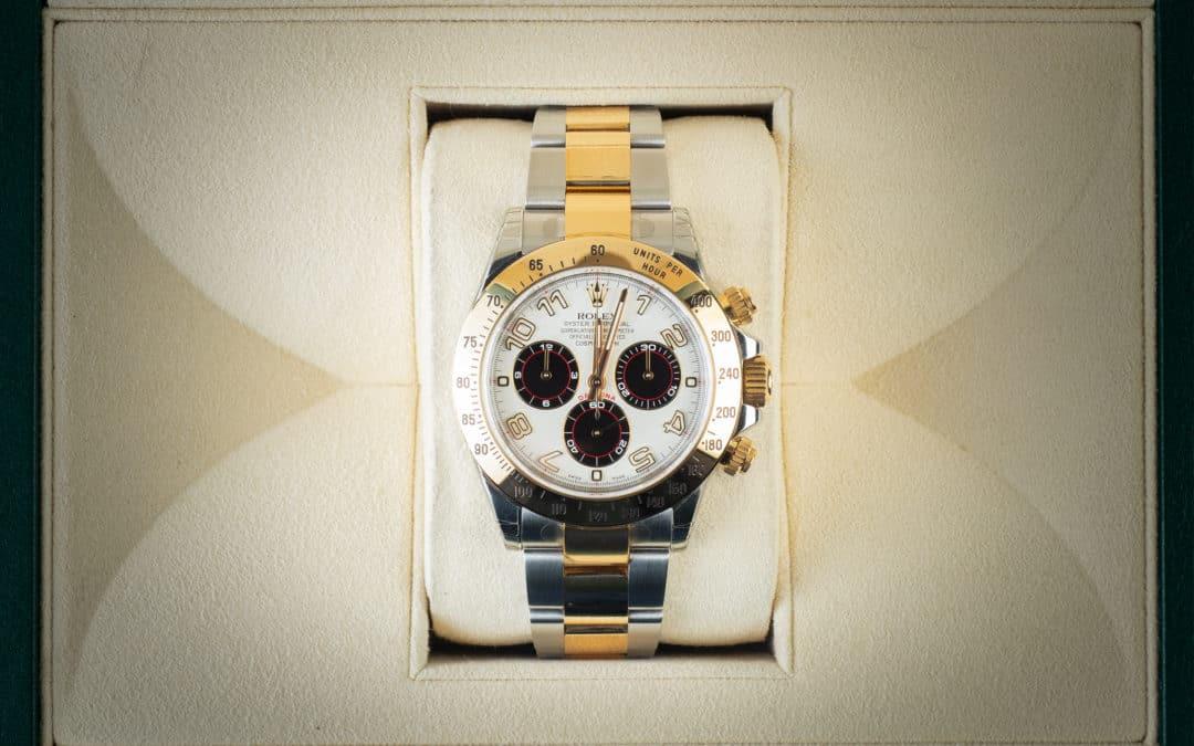 Rolex Daytona in oro e acciaio Racing NOS Ref. 116523
