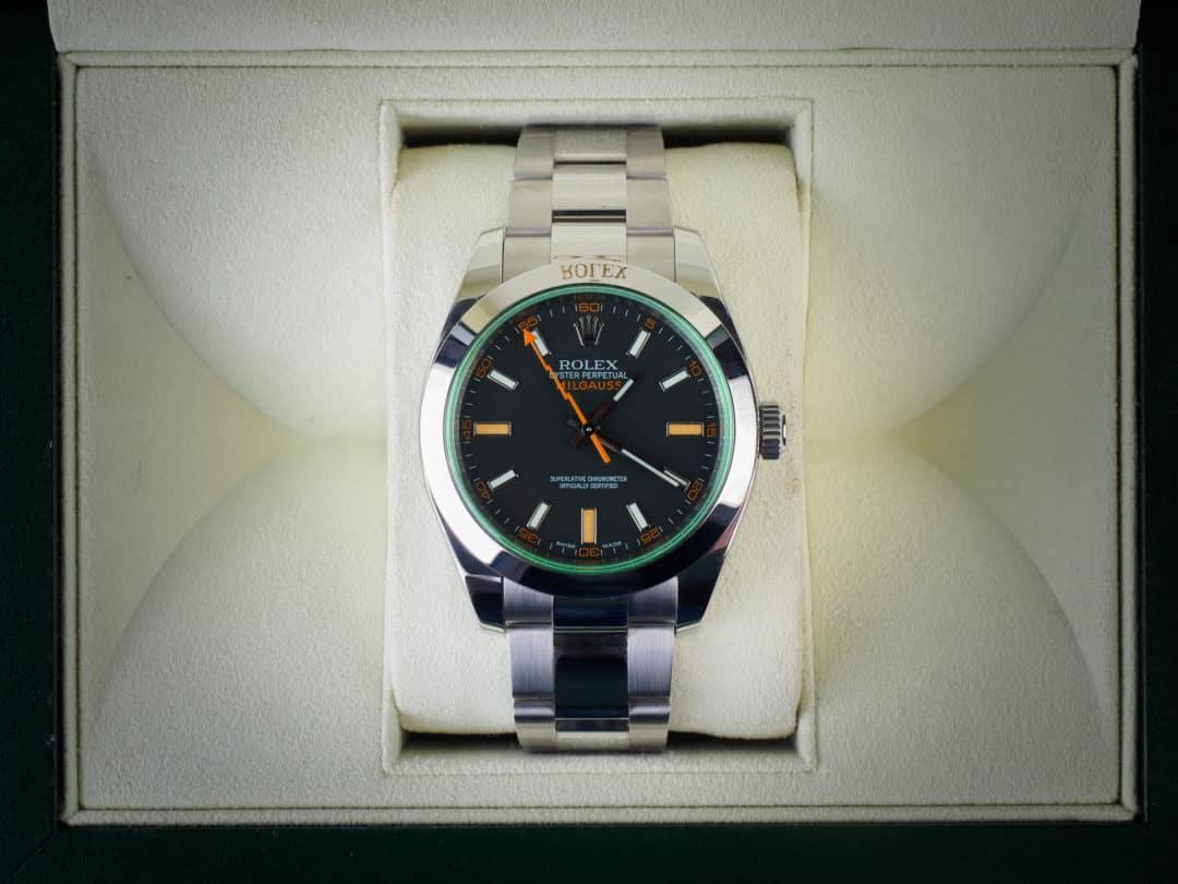 Rolex Milgauss Verde in acciaio Ref. 116400GV