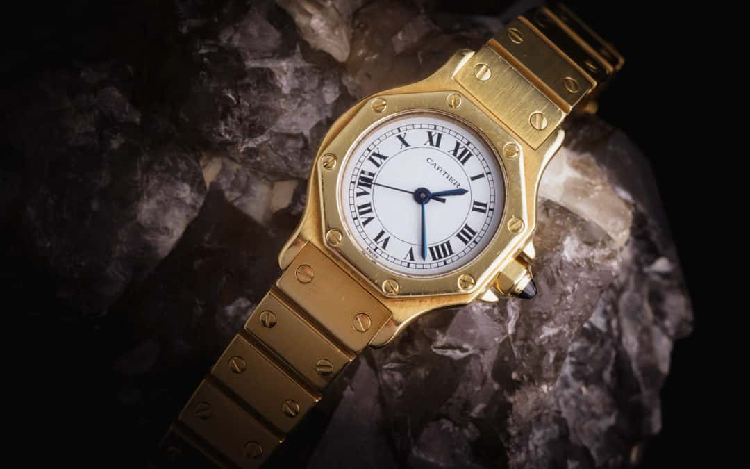 Cartier Santos Octagon in oro giallo 18kt Ref. 2965