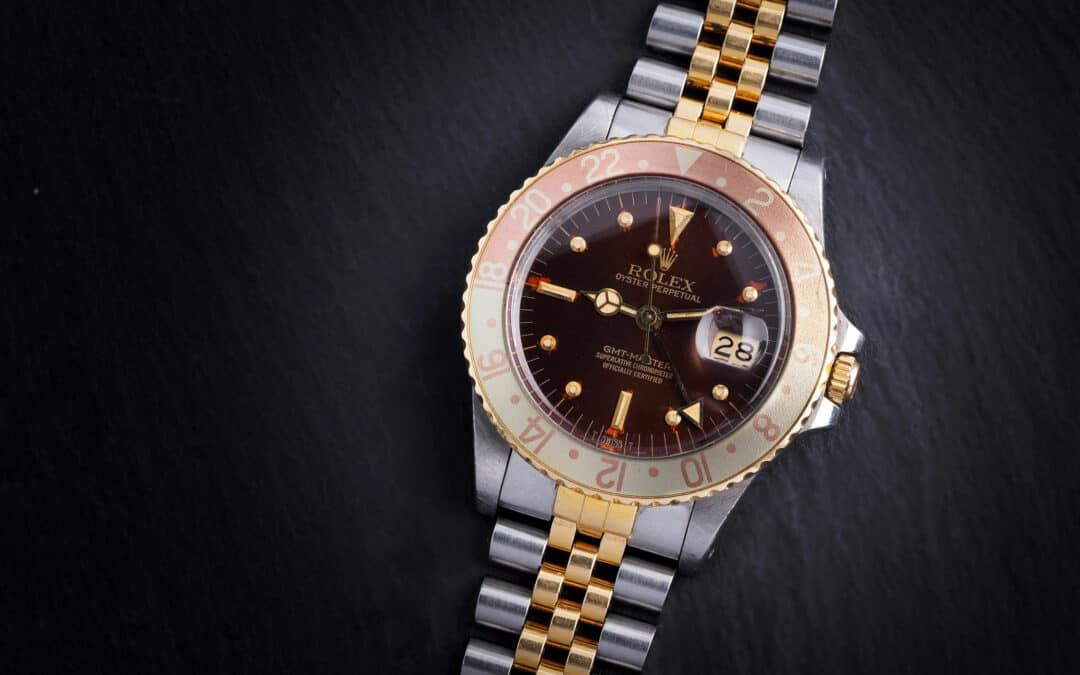 """Rolex GMT Master """"Tigereye"""" in oro e acciaio Ref. 16753"""